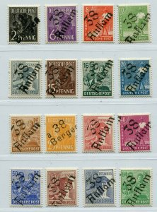 GERMANY SOVIET ZONE HOP BEZIRKSHANDSTEMPEL BEZIRK 38 166-181 IX PERFECT MNH 116