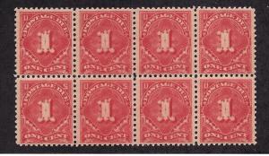 J61 Mint,OG,NH/LH... Block of 8... SCV $59.50