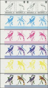 Montserrat 1985 Sc 580 Progressive Color Proofs