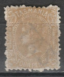 TASMANIA 1871 QV 4D BUFF PERF 11.5 WATERMARK TAS WITH LINES