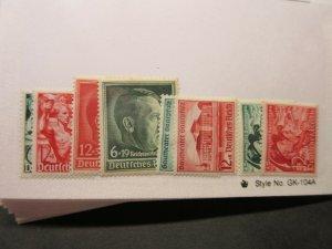GERMANY  Scott  B116-7, B118, B120, B121-2 & B132-3  MH  LotD  Cat $14.05