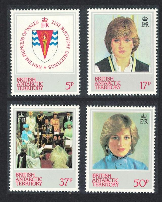 BAT 21st Birthday of Princess of Wales 4v SG#109-112