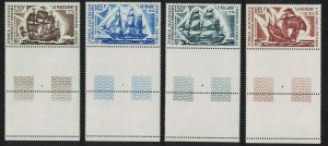 FSAT TAAF Antarctic Ships 4v Margins Coin Labels SG#85-88 MI#85-88 SC#C29-C32
