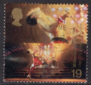 Great Britain  #1859  used  1999 Millenium series  19p  Freddie Mercury