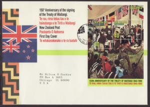 New Zealand 979 Treaty Waitangi 1990 Typed FDC
