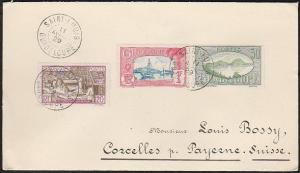 GUADELOUPE 1929 cover Saint Louis to Switzerland...........................46721