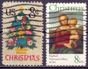 United States. 1973. 1123-24. Christmas. USED.