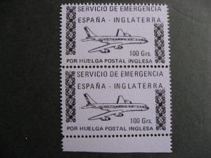SPAIN emergency service Inglaterra 100g MNH pair quite interesting!