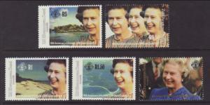 Seychelles Zil Elwannyen Sesel 183-187 Queen Elizabeth II MNH VF