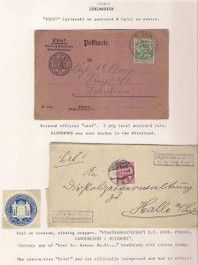 EILT! 1903 Frei durch Ablösung DUISBURG Deutschland Germany Preußen Prussia