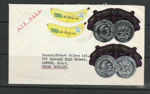 Tonga 1972 Commercial Mail to UK as shown,