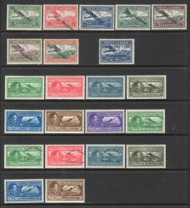 Albania 1927-31 Selection of 22 Better Airmails Mint CV$167