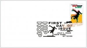 US 5481 Hip Hop B-Boy BWP FDC 2020 after 7/15