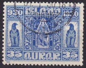 Iceland #160 F-VF Used CV $15.00 (Z8003)