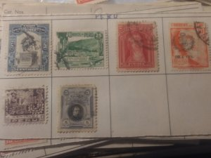 Peru group of 6 different 5 used 1 MH