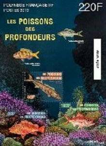 TAHITI (FRENCH POLYNESIA) / 2019 - (Miniature Sheet) Deep Sea Fishes, MNH