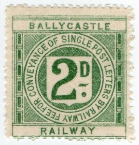 (I.B) Ballycastle Railway : Letter Stamp 2d