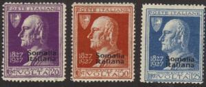 Somalia #97-99 cpl MH Volta CV$36