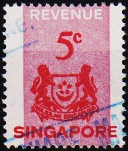 Singapore. Date? 5c Revenue Fine Used