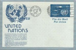 UN UC1 10c AIR LETTER SHEET - Anderson cachet