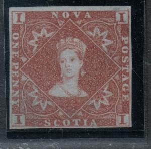 Nova Scotia #1 Very Fine Mint Large Part Original Gum Hinged *With Certificate*