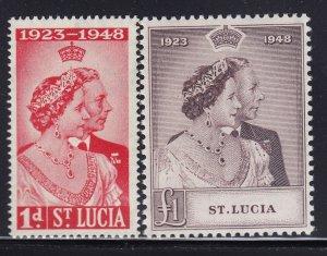 St Lucia Scott # 129 - 130  VF OG never hinged nice color cv $ 22 ! see pic !