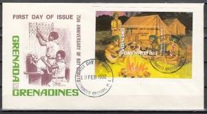 Grenada, Gr., Scott cat. 479. 75th Scout Anniversary s/sheet. First day cover. ^