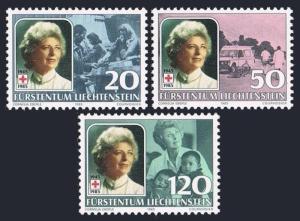 Liechtenstein 813-815,MNH.Michel 875-877. National Red Cross,1985.Princess Gira.
