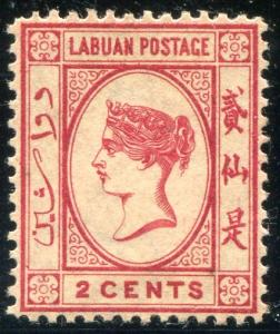 Labuan 17 Mint OG HR 1885 2c Victoria. NO per item S/H fees