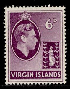 BRITISH VIRGIN ISLANDS GVI SG116a, 6d mauve, M MINT.