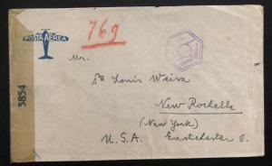 WW2 Egypt Cover Prisoner of War POW Camp 1 To New Rochelle NY Usa J Rosenberg