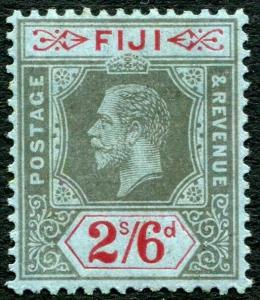 FIJI-1916 2/6 Black & Red/Blue Sg 135 MOUNTED MINT V29594