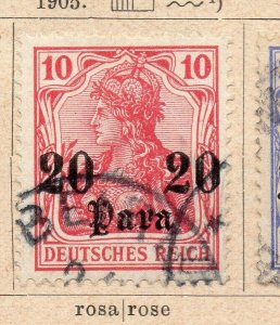 Germany 1905 Early Issue Fine Used 20p. Surcharged NW-07983