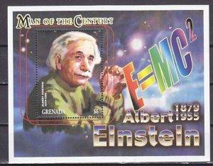 Grenada, Scott cat. 2955. Albert Einstein s/sheet. ^