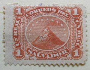 A6P39F221 Salvador 1897 1r mint no gum