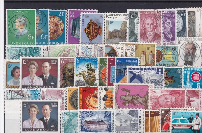 luxembourg vintage stamps ref r9875