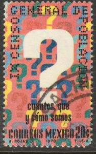 MEXICO 1024, Census. USED. F-VF. (1268)