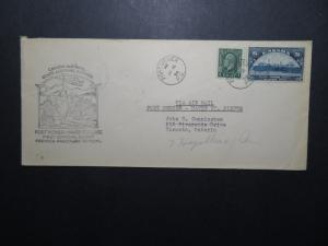 Canada 1934 Port Menier to Harve St Pierre First Flight Cover - Z11256