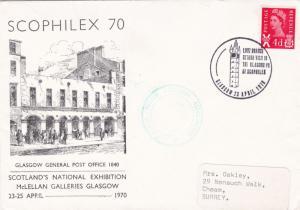 GB 1970 Scophilex Polish Cultural Association Scotland Cover with Enclosure VGC