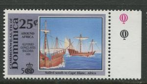 DOMINICA -Scott 1298 - Voyages of Discovery -1991 - MNH- Single 25c Stamp