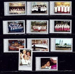 Nicaragua 997-1003 and C887-90 MNH 1975 Famous Choirs    (ap1685)