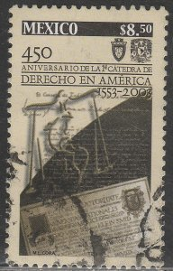 MEXICO 2338, TEACHING LAW IN THE AMERICAS, 450th ANNIVERSARY. USED. VF. (713)