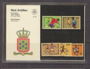 NETHERLANDS ANTILLES,1985 Football set of 5, Folder 11