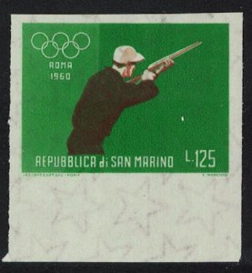 San Marino Shooting Olympic Games 1960 Imperf SG#MS616-5 MI#679 CV£3.25
