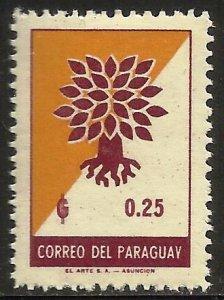 Paraguay 1961 Scott# 620 MH