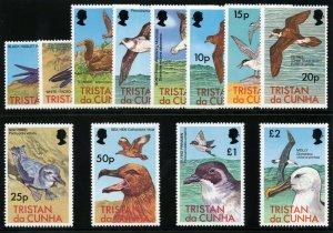Tristan Da Cunha 1977 QEII Birds set complete superb MNH. SG 220-231. Sc 222-233