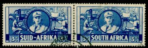 SOUTH AFRICA SG91, War Effort 3d Blue, USED. Cat £50.