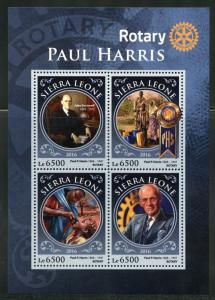 SIERRA LEONE 2016 PAUL HARRIS ROTARY INTERNATIONAL SHEET MINT NH
