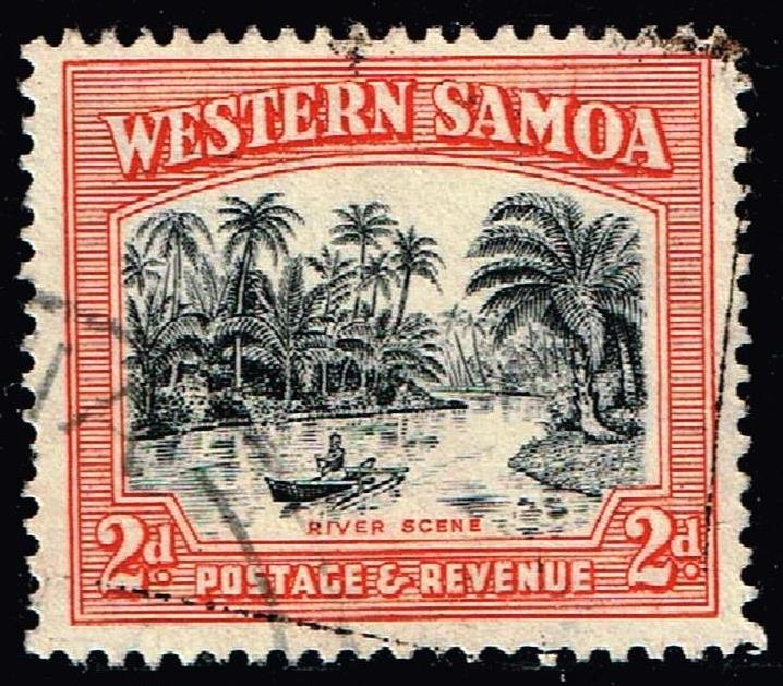 WESTERN SAMOA STAMP 1935 Local Motifs 2P USED STAMP