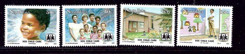 Namibia 738-41 MNH 1993 SOS Childrens Village